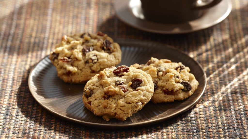 Cookies με κανέλα και σταφίδες